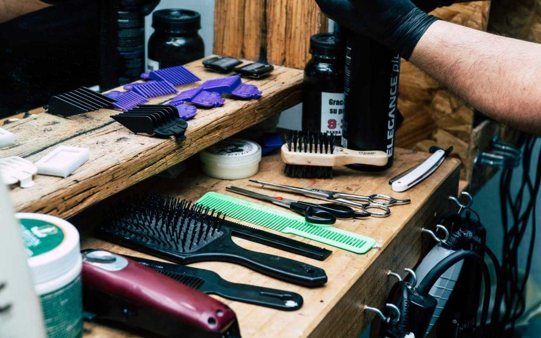 Photo outils barbier coiffeur